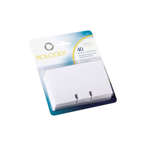 Rolodex Business Card File Refill Sleeves 40 Card Capacity For