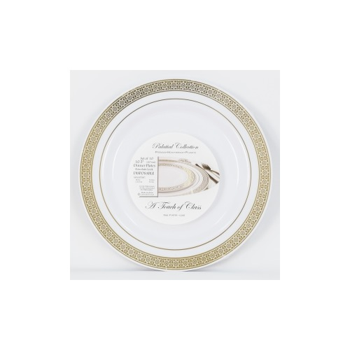 EZWare Dishes Palatial Gold Disposable Plastic Dinner Plate  sc 1 st  Shoplet & EZWare Dishes Palatial Gold Disposable Plastic Dinner Plate ...