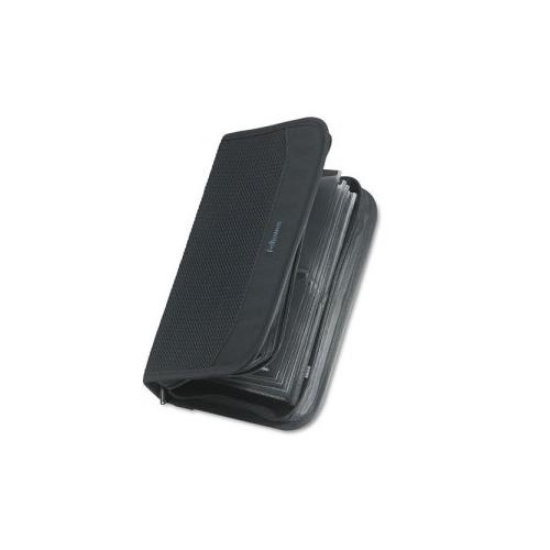 Fellowes High Capacity Nylon 64 Cd Wallet Album With Wrist Loop