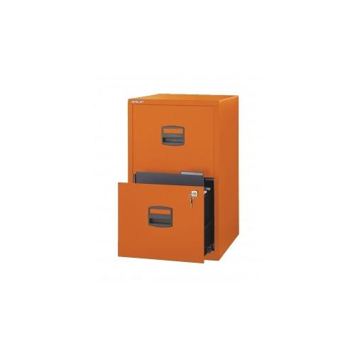 Bisley Two Drawer Steel Home Filing Cabinet Orange File2: Bisley Two Drawer Steel Home Filing Cabinet,Orange, Bisley