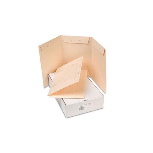 gussco recycled manila end tab tri fold design patent folders