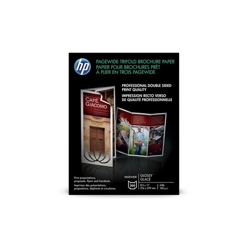hp small format tri fold brochure paper white 8 5 x 11 glossy