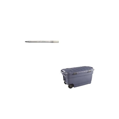 Charmant Value Kit   Rubbermaid Roughneck Wheeled Storage Box (RUB2463DIM) And BIC  Round Stic Ballpoint