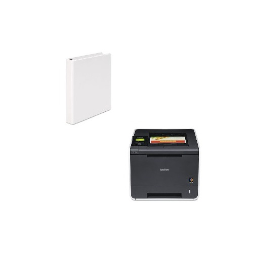 photo about Printable Vinyl Laser Printer called Really worth Package - Brother HL-4570CDW Wi-fi Laser Printer with Duplex Printing (BRTHL4570CDW) and Common Spherical Ring Economic climate Vinyl Check out Binder