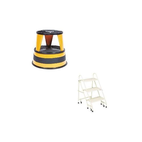 Marvelous Value Kit Cramer Kik Step 2 Step Steel Step Stool Cra100130 And Cramer Steel Folding 3 Step Ladder W Retracting Casters Cra113019 Customarchery Wood Chair Design Ideas Customarcherynet