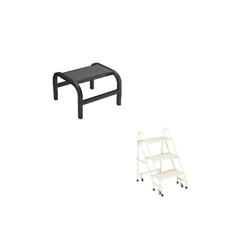 Stupendous Value Kit Cramer Pal Aluminum Step Stool Cra201192 And Cramer Steel Folding 3 Step Ladder W Retracting Casters Cra113019 Customarchery Wood Chair Design Ideas Customarcherynet