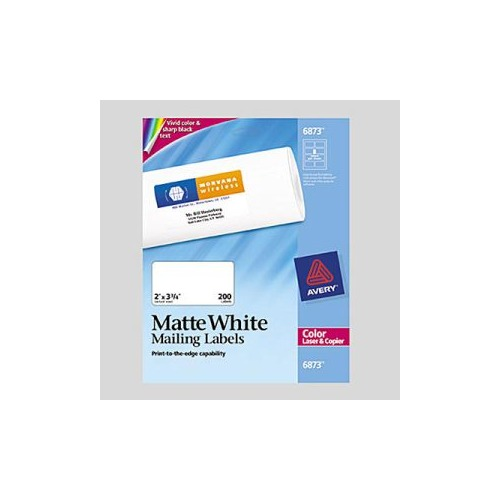 Avery White Laser Labels For Color Printing