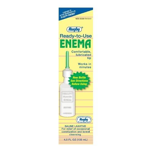 Rugby Enema Rugby 4 5 Oz 19 Gram 7 Gram Strength Monobasic Sodium Phosphate Dibasic Sodium Phosphate 775102ea Shoplet Com