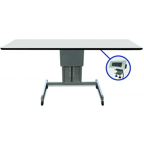 Prime Marvel 60W Ergonomic Assembly Work Bench Table Featuring Clamp On Power Data Center Gray Silver Andrewgaddart Wooden Chair Designs For Living Room Andrewgaddartcom