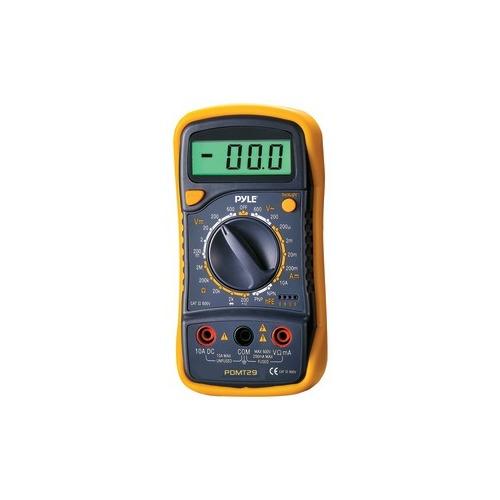 Resistance /& Range Multimeter with Rubber Case /& Stand DC Volt PYLE PDMT29 Digital Lcd AC Current