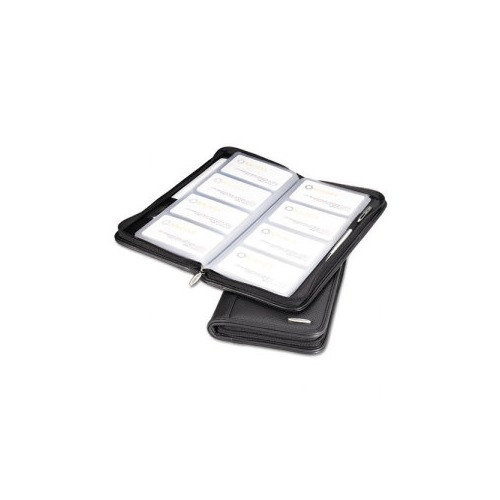 Rolodex Leather Organizerbusiness Card Book Holds 96 2 14 X 4