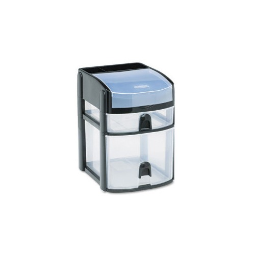 Rubbermaid Mini 2-Drawer w Flip Lid  sc 1 st  Shoplet & Rubbermaid Mini 2-Drawer w/Flip Lid - RUBFG9A5700BLA - Shoplet.com