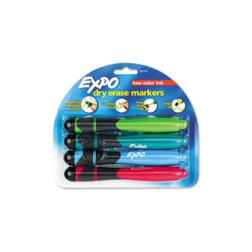 Expo For Use in Dry Erase Markers w/Eraser and Grip