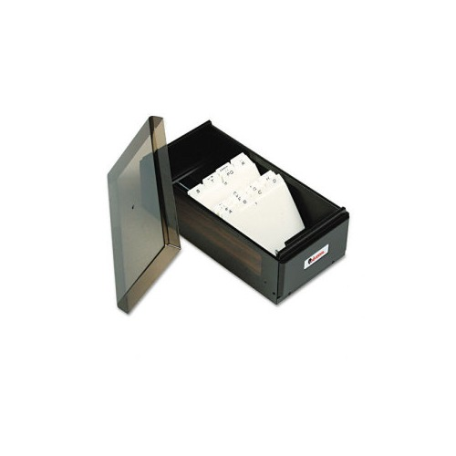 universal business card file box w lid holds 600 2 1 4 x 4 cards - Business Card File Box